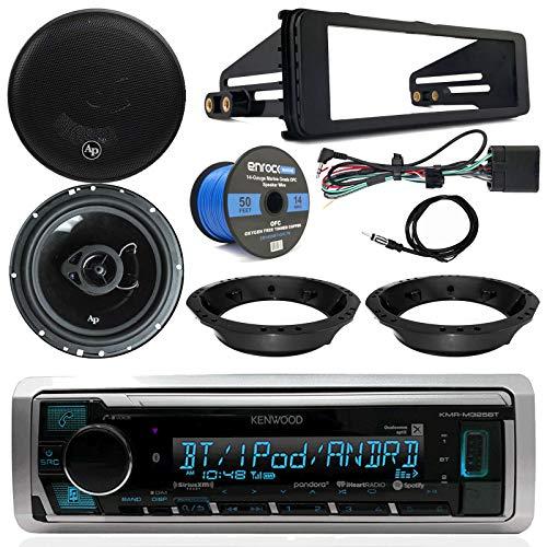 Harley Davidson Stereo Package - Kenwood Digital Media Radio, 2X 6.5 Audiopipe Speakers, Dash Radio Install Kit, Speaker Adapters, Speaker Wire, Antenna (98-13 Models)