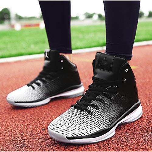 per di alta coppia Nero da antiscivolo basket la all'usura aperta Stivali Modelli Scarpe Zxcvb sport Scarpe da all'aria da corsa campo di gamma resistenti gioventù t4IwqS