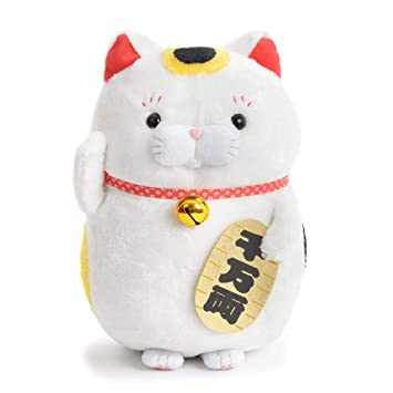 Amazon Com Amuse Higemanju Cat Plush Lucky Cat Series Calico