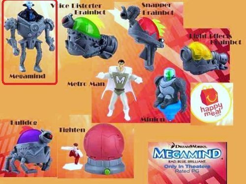 Mcdonalds Toy Figure - McDonalds Happy Meal Megamind Movie Megamind Figure Toy #1 2010