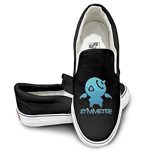 PTCY OW Symmeter OverSymmeter Logo Activewear Unisex Flat Canvas Shoes Sneaker 38 Black