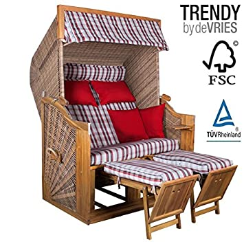 Amazonde STRANDKORB DEVRIES TRENDY PURE GREENLINE 140 XL