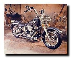 Harley Davidson Black Motorcycle Wall Home Decor Art Print Poster (16x20)