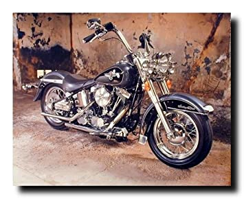 Vintage Harley Davidson Black Motorcycle Wall Decor Art Print Poster (16x20) Part 38