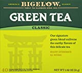 Bigelow Classic Green Tea Bags 40-Count Boxes (Pack of 6) Caffeinated...