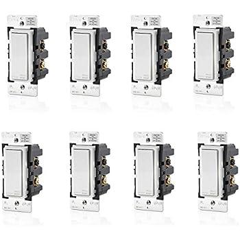 Leviton DW15S-1BZ Decora Smart Wi-Fi Universal LED/Incandescent Light Switch (8 Pack)