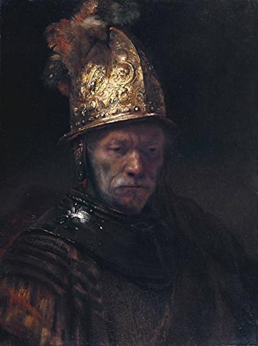 The High Quality Polyster Canvas Of Oil Painting 'Rembrandt Harmenszoon Van Rijn-Man In A Golden Helmet,1650' ,size: 10x13 Inch / 25x34 Cm ,this Beautiful Art Decorative Prints On Canvas Is Fit For Dining Room Gallery Art And Home Artwork And Gifts