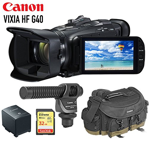 Canon VIXIA HF G40 Full HD Camcorder with SD Card, Extra Bat