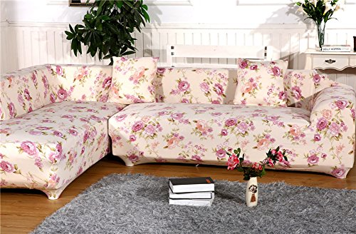Cool Chezmax Floral Pattern Sofa Cover Polyester Fabric Sofa Ncnpc Chair Design For Home Ncnpcorg