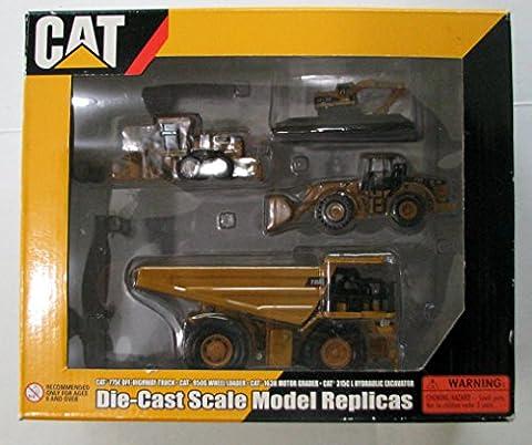 CAT 775E Off-Highway Truck, CAT 950G Wheel Loader, CAT 163H Motor Grader, CAT 315C L Hydraulic - Cat Motor Grader