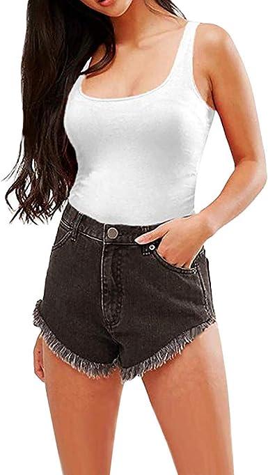 Proumy Camisola Apretada Siameses Sólido Chaleco Casual Mujer Blusa Elástico Bustier Corsé Espalda Abierta Camiseta Larga Vestido sin Mangas Tops Talla Grande Traje de Playa Elegante Camisa Nuevo 2019: Amazon.es: Ropa y