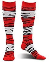 Dr. Seuss Cat in The Hat Adult Striped Costume Socks by elope