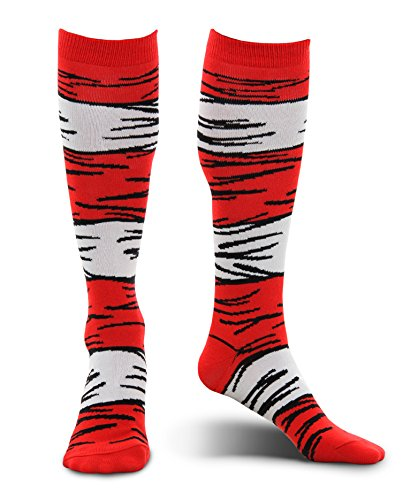 Dr. Seuss Cat in the Hat Kids Costume Socks by elope -