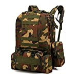 Backpack for Men Outdoor 55L Molle Military Tactical Bag Camping Hiking Trekking Backpack,Rakkiss
