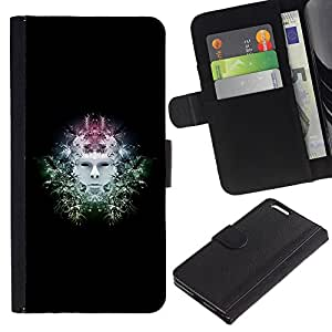 Ihec-Tech / Flip PU Cuero Cover Case para Apple Iphone 6 PLUS 5.5 - Sci Fi Head