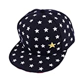Hat,Laimeng New Kids Baby Children Star Pattern Hip Hop Baseball Cap Peaked Hat (Black)