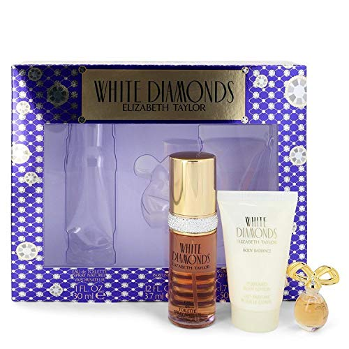 Elizabeth Taylor White Diamonds Ladies Gift Set With Spray, Body Lotion & Body Wash