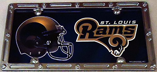 1 , Football Sign of the, SAINT LOUIS RAMS , Metal Sign, Framed in a Metal Slotted Rim Frame,,6A2.8+17B5.4+3001+