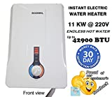 220v tankless water heater - Electric Tankless Water Heater Instant On-Demand 11KW @ 220V - 12.6KW @ 240V - 2.9 GPM RODWIL