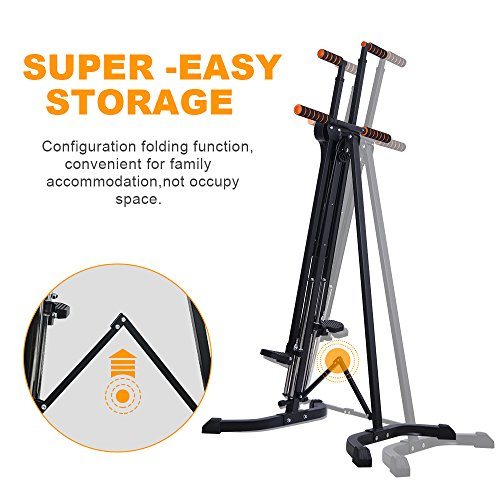 Rxlife Vertical Climber Cardio Exercise Folding Climbing Machine for Home Gym Step Climber Exercise Fitness by Rxlife (Image #3)