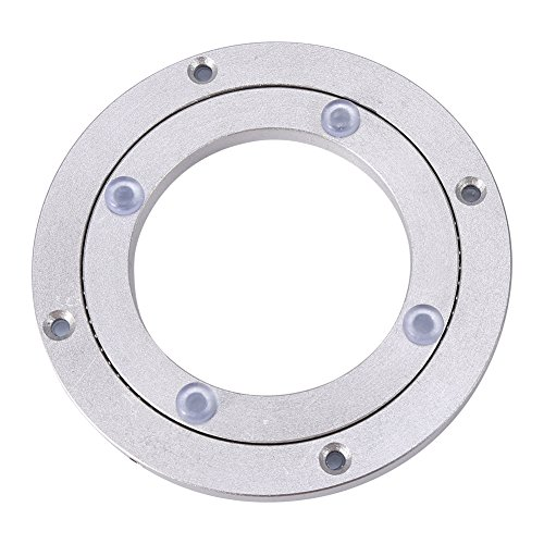 - Aluminum Alloy Turntable Bearings Heavy Duty Bearing Table Swivel Plate Hardware Round Rotating Turntable for Restaurant Dining Table Cake Decorations TV Monitor Stand(4 inch)