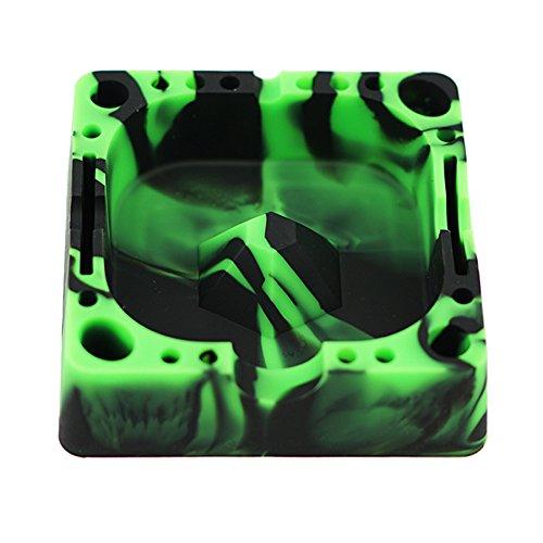 X-Value Silicone Ashtray Colorful Square Cigarette Cigar Holder 1PCS ()