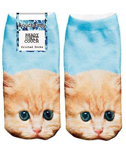 Coucharmy Tricky1BZ Tier Katzen Hunde Fullprint Sneaker Socken Strümpfe Füßlinge Halbsocken All Over Einheitsgröße (36-40) (Einheitsgröße (36-40), Baby Cat)