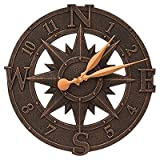 16-Inch Compass Rose Outdoor Wall Clock For Sale