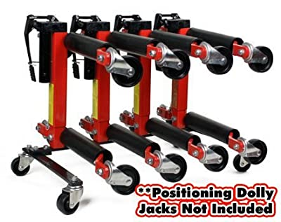 """Dragway Tools Wheel Dolly Storage Stand for 9"""" or 12"""" Vehicle Positioning Jacks"""