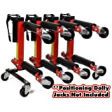 Wheel Dolly Storage Stand Fits (4) Vehicle Positioning Jacks