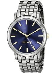 Nine West Womens NW/1805BLGN Gunmetal Bracelet Watch