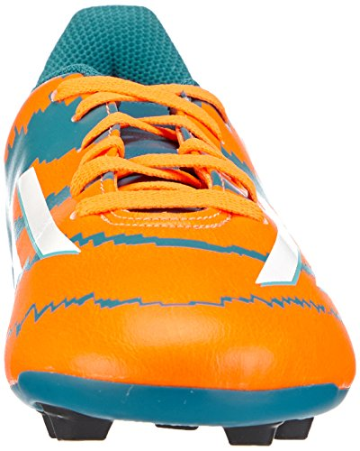 adidas Messi 10.4 Fxg Junior - Botas de fútbol Niños Multicolor (power teal f14/ftwr white/solar orange)