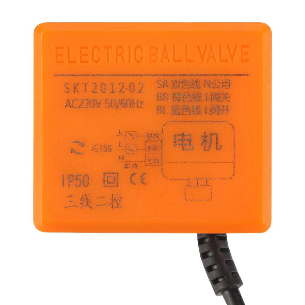 Motorized Ball Valve AC 220V 2 Way 3 Wire Brass Motorized Ball Valve Electrical Valve DN40 G1-1//2 Valve Tool Brass Ball Valve