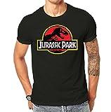 Jurrasic Park Vintage Distressed Printed T Shirt Black Screen Printed Design All Sizes (L)