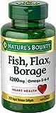 Nature's Bounty Fish, Flax, Borage 1200 mg Omega 3-6-9, 72 Softgels Review