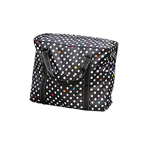 Picnic Handbag Multi Organizer Dot Travel Bag Utility Nylon Tote Butterme Beach Black Polka black Storage Waterproof Dot Purpose Foldable wpqxSvHg1