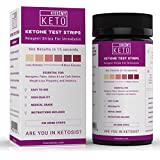Kiss My Keto Test Strips - Ketone Urine Strips 200ct NEW + IMPROVED for Ketogenic, Atkins, Low Carb, Paleo Diets, Urinalysis Test Kit, Detailed Instructions, Accurate Color Chart For Measuring Ketones