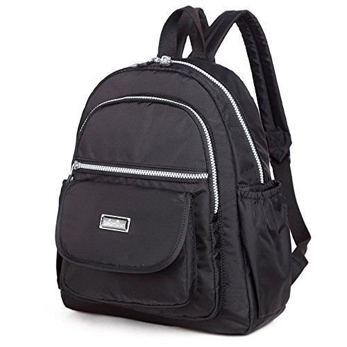 Sac à dos d'épaule, sac mère multi-fonctionnel à la mode, bébé imperméable portable à l'extérieur du sac ( Couleur : Dark Purple ) Noir