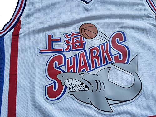 new product a768e e85f1 #32 Jimmer Fredette Shanghai Sharks Basketball Jersey Men White (White,  Medium)