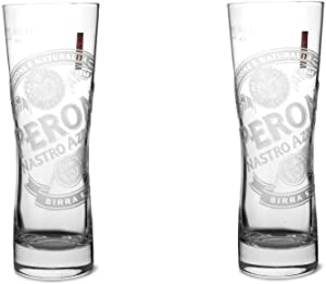 Peroni Signature Italian Beer Glass | Set of 2 Glasses