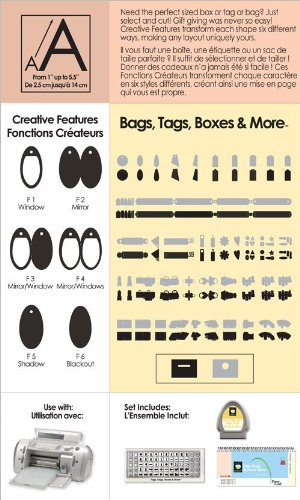 Cricut Shapes Cartridge-Tags, Bags, Boxes & - Provo Craft Cricut By