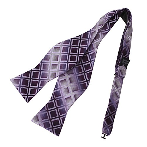 DBA7C01C Purple Plaids Bow Tie Microfiber Gift For Christmas Day Self-tied Bow Tie By Dan (Christmas Plaid Bow Tie)