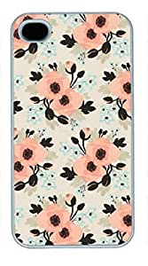 iPhone 5 5S Case, iCustomonline Flower Pattern Pastel Back Case Cover for iPhone 5 5S