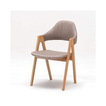 Amazon.com: LQQFF Silla de comedor de madera maciza, silla ...