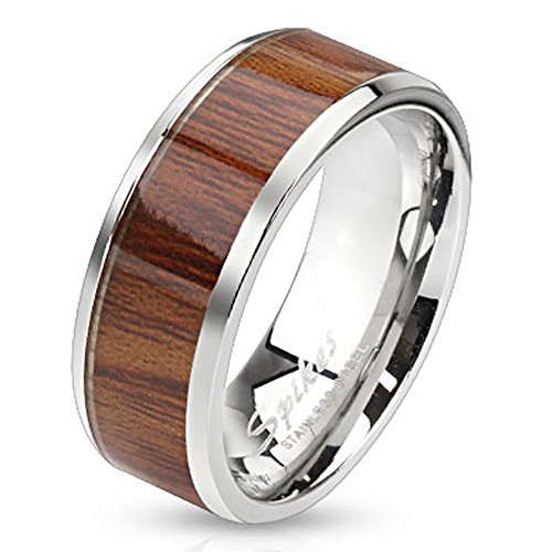 high-polish-finish-wood-inlay-8mm-stainless-steel-band-ring-size-12