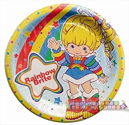 Rainbow Brite Paper Party Plates (8 Count) by Party Express  sc 1 st  Amazon.com & Amazon.com: Rainbow Brite Paper Party Plates (8 Count) by Party ...