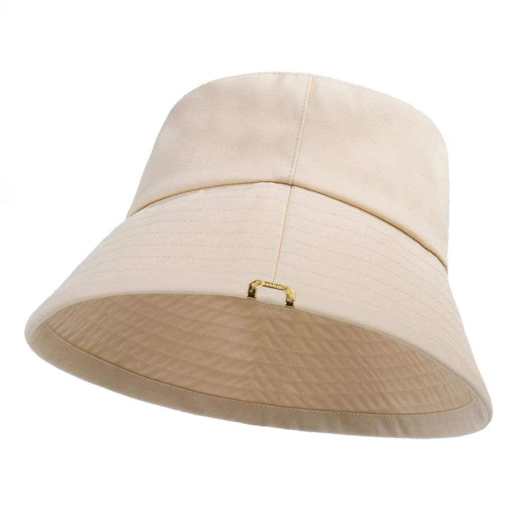Beige ZHANGHAIMING UPF + 50 Fisherman's Hat, Big Sunscreen Sunshade Hat Couple Basin Cap, 3 colors (color   Beige)