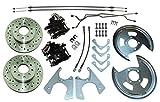 64-77 GM 10 12 bolt Rear Axle End Disc Brake Conversion Kit CROSS DRILLED ROTORS (N-3-1)