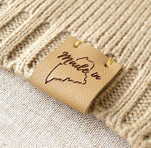 e985d47f2957d Amazon.com: Folding leather labels, knitting labels, personalized ...