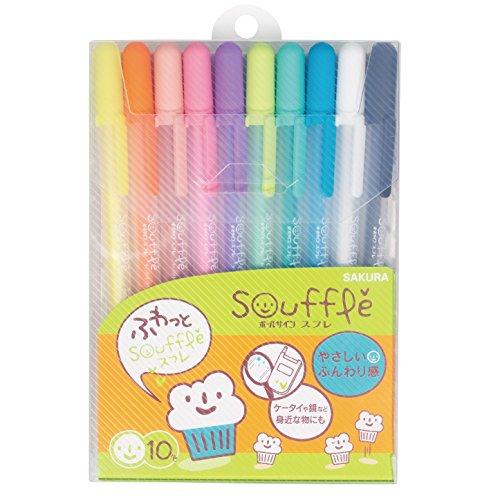 Sakura Color aqueous ballpoint pen ball sign souffle 10 colors PGB10VN